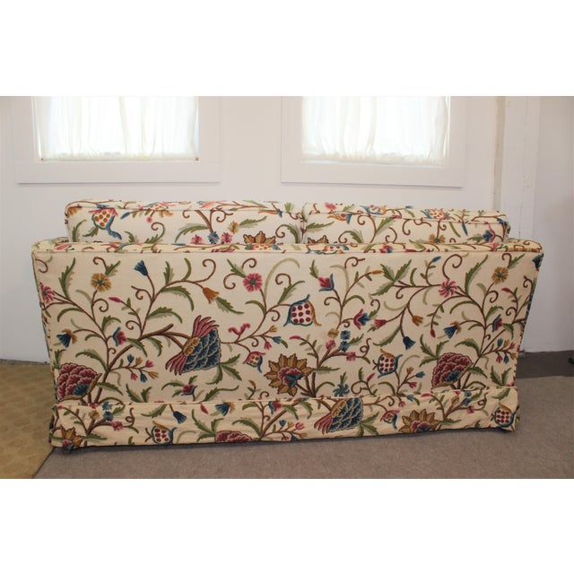 Mid-Century Modern Floral Sofa Settee - Image 7 of 10