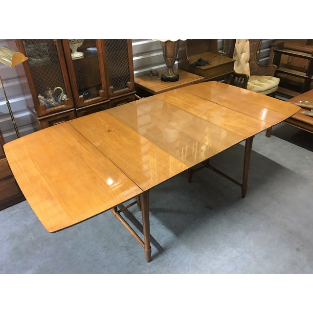 vintage solid maple drop leaf dining table chairish. Black Bedroom Furniture Sets. Home Design Ideas