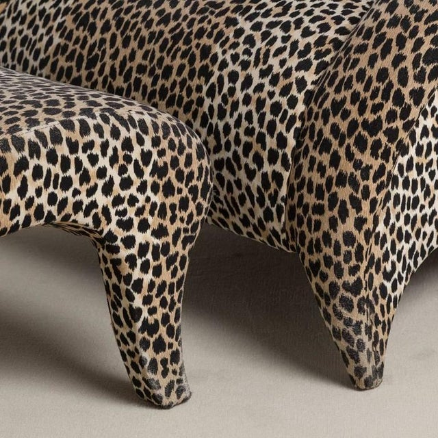 A Leopard Print Chair and Stool by Vladimir Kagan - Image 4 of 6