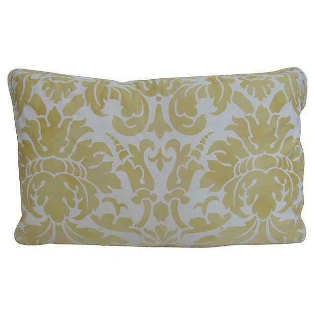Elegant Italian Fortuny-Style Pillows, 2 Available - Image 1 of 4