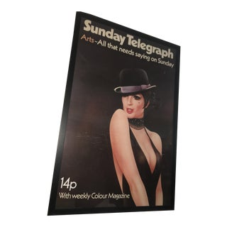 1972 London Telegraph Lisa Minnelli Cabaret Poster