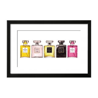 Coco Chanel & Chanel No 5 Perfume Set Framed Print