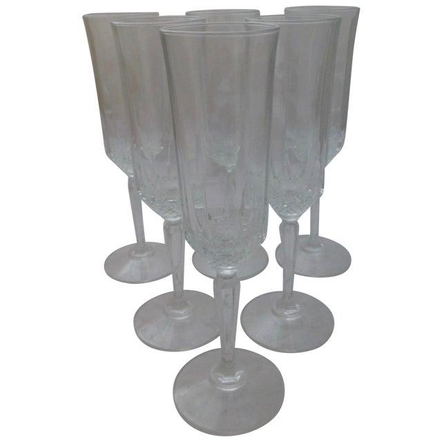 Vintage French Champagne Flutes - Set of 6 - Image 1 of 7