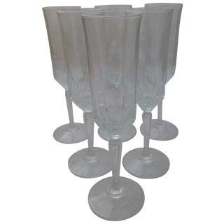 Vintage French Champagne Flutes - Set of 6