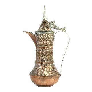 Vintage Copper Dallah Coffee Pot