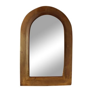 Arched Brass Mirror
