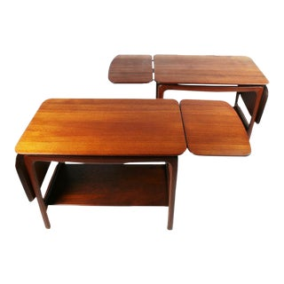Pair of Drop Leaf Side Tables by Peter Hvidt