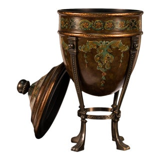 Vintage Handpainted Emperor's Urn on Stand
