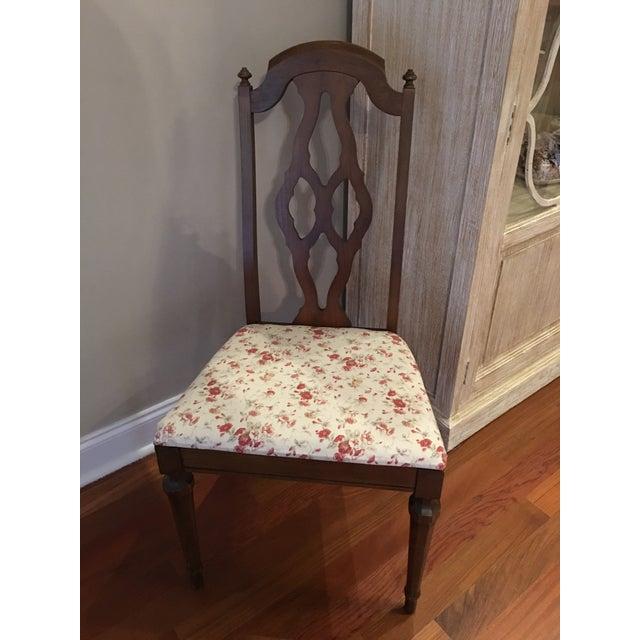 Lenoir Broyhill Vintage Pecan Chairs - Set of 6 - Image 5 of 11