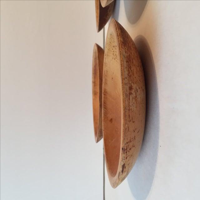 Primitive Wood Bowls - Set of 4 - Image 5 of 11
