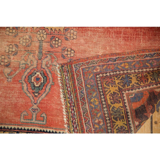 "Antique Afshar Distressed Rug- 4'5"" x 5'11"" - Image 2 of 7"
