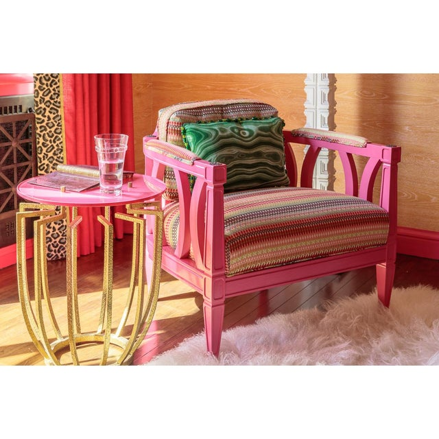 Playful Pink Upholstered Armchair - Image 2 of 2