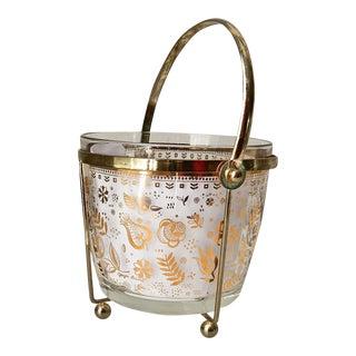 Georges Briard Glass 24K Gold Ice Bucket