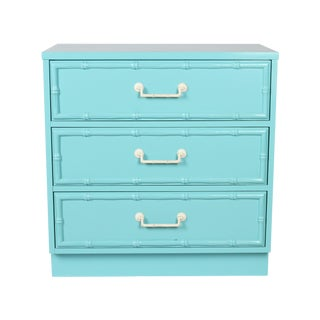 Turquoise Faux Bamboo Dresser
