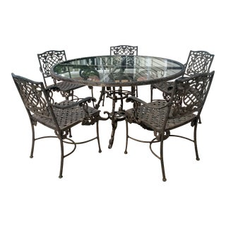 Cast Classics Outdoor Table & Arm Chairs - Set of 6