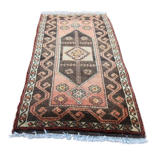 Vintage Turkish Tribal Oushak Runner- 1'9 x 3'11