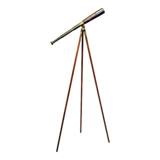 Brass and Leather Telescope