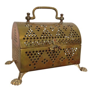 Brass Claw Foot Potpourri Scent Box