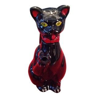 Porcelain Black Cat Cruet Vinegar Oil Japan