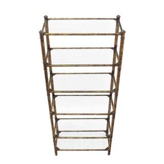 Metal Faux Bamboo Shelf