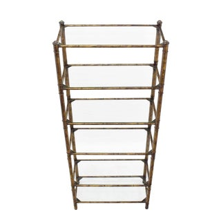 Metal Faux Bamboo Shelf