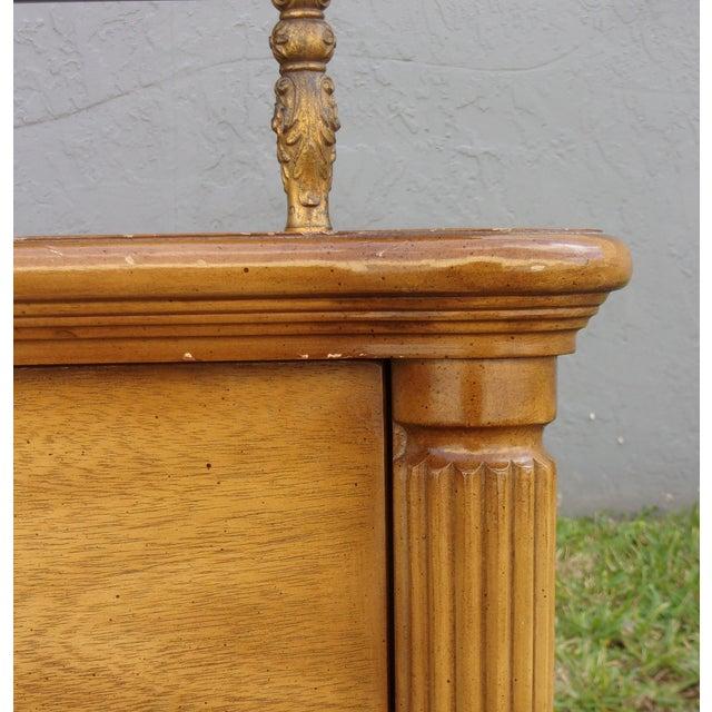 Image of Vintage 2-Drawer Regency Style Nightstands - Pair
