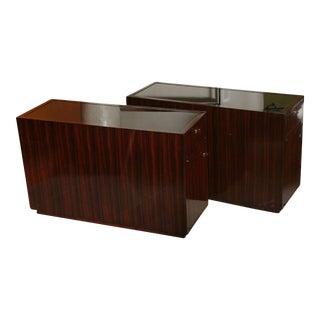 Pair of Art Deco Style Ebone De Macassar Cabinets