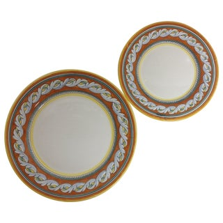 1990 Italian Deruta Pottery Charger Plates - Pair