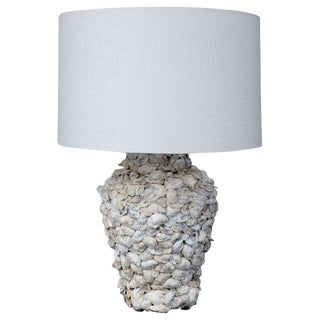 Custom Shell-Covered Table Lamp