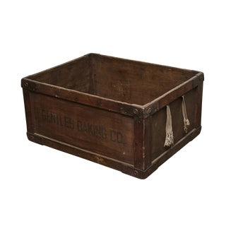 Gentles Baking CO. Wooden Delivery Box