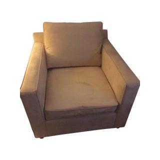 Crate & Barrel MicroSuede Armchair in Sand