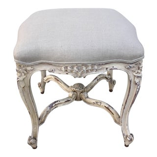 French Painted Tabouret