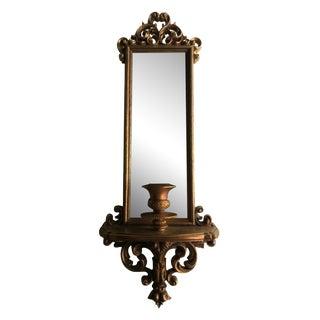 Vintage Regency Mirror with Candle Holder
