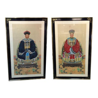 Chinese Ancestral Portraits - A Pair