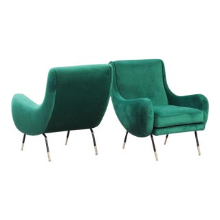 Pair of Mid-Century Club Chairs, Italy circa 1955