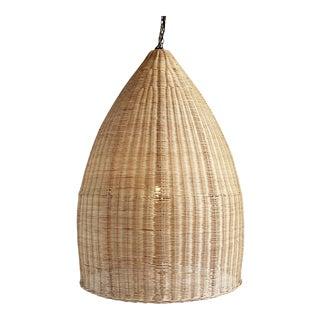 Large Raw Rattan Pod Lantern