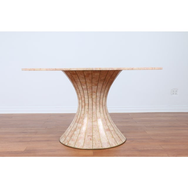 Maitland-Smith Tessellated Marble Console Table - Image 4 of 5