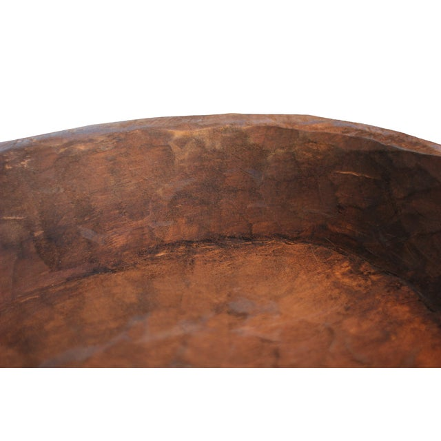 Image of Hand-Carved Wooden Mexican Dough Bowl
