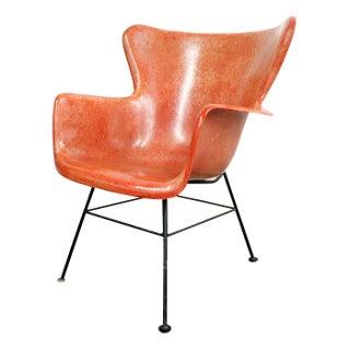 Lawrence Peabody Selig Fiberglass Wingback Chair