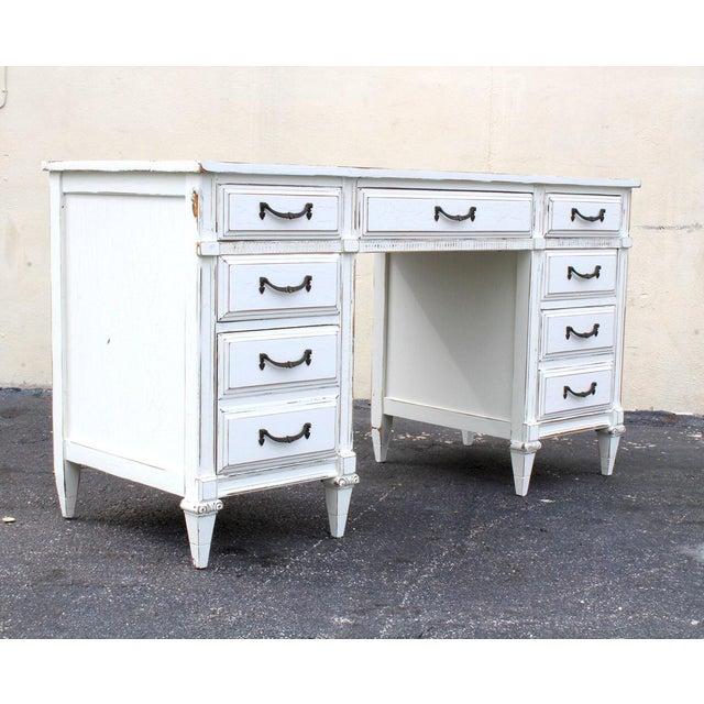 Mid-Century White Desk - Image 3 of 7