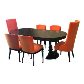 Dining Room Table & Chairs - Set of 7