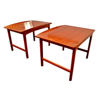 Danish Modern Folke Ohlsson Solid Teak End Tables