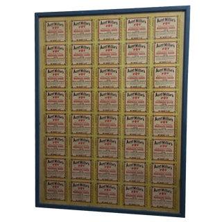 Framed Aunt Millie's Pasta Sauce Advertising Print