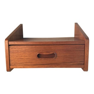 Vintage Danish Teak Wall-Mounted Shelf