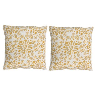 "John Robshaw Golden ""Meena"" 20x20 Pillows - Pair"