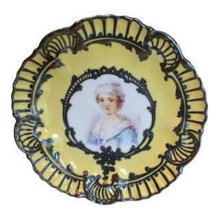 Hand-Painted Limoge Display Plate