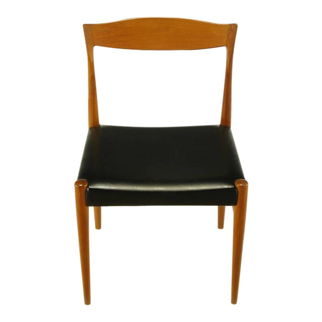 Six Teak Sculptural Back Dining Chairs, circa 1960s - Image 1 of 9