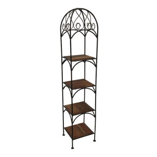 Wood & Wrought Iron Etagere