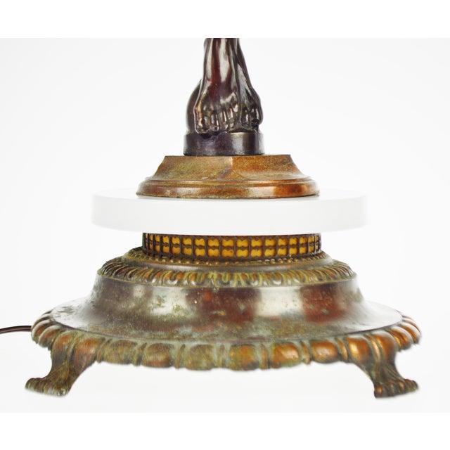 Image of Art Deco Figural Lighted Ashtray Stand