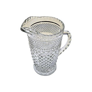 Tilled Crystal Vintage Pitcher